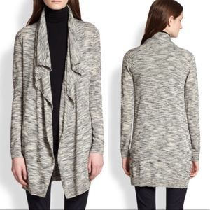 Theory Trincy E space-dyed draped wool cardigan